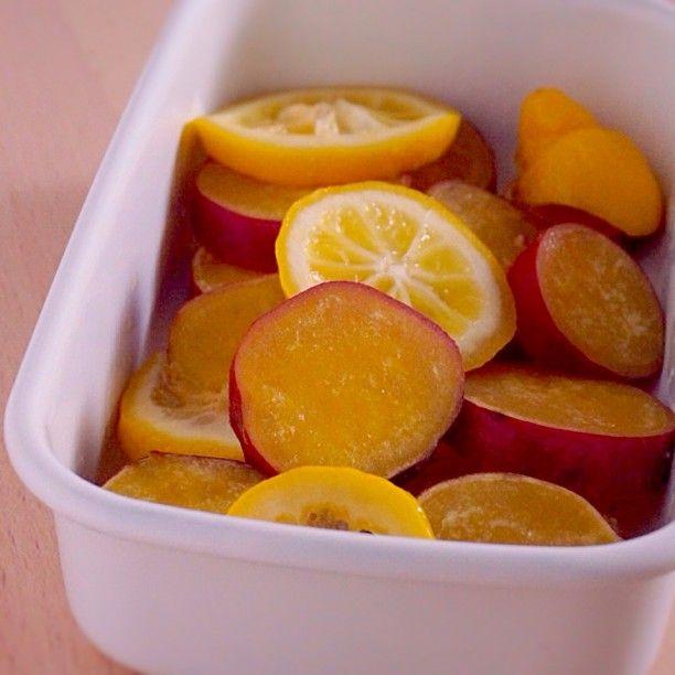 【じょうびさい】さっぱりとした口あたり、さつまいものレモン煮  |  あさこ食堂