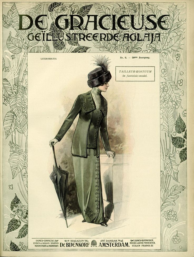[De Gracieuse] Tailleur-kostuum in fantasie-model (May 1912)
