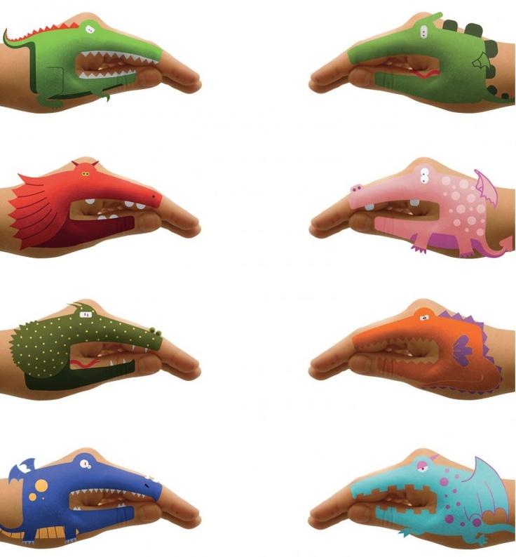 Hand-draak tatoo