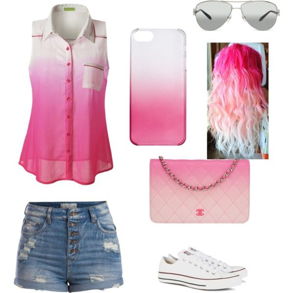 Love the pink/white look by ally-star8888 on Polyvore featuring polyvore, fashion, style, Pieces, Converse, Chanel, J.Crew and Tiffany & Co.