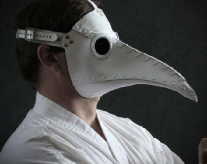 Masque de médecin de la peste en cuir blanc « Schnabel »