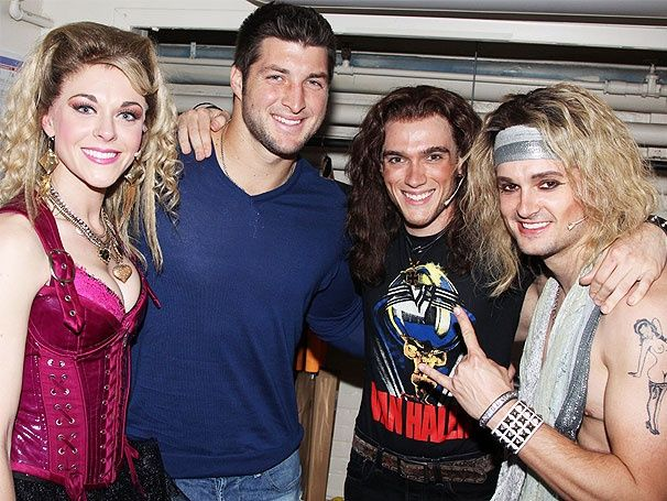New York Jets quarterback Tim Tebow visits ROCK OF AGES