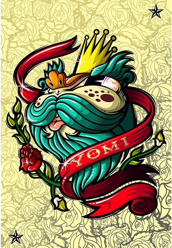 Rey de Nada by Elmer Sosa, via Behance