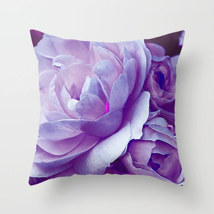 Buy Vintage violet roses (3) Throw Pillow by maryberg. Worldwide shipping available at Society6.com. Just one of millions of high quality products available.