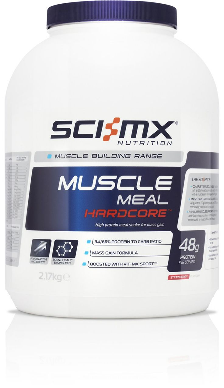 MUSCLE MEAL HARDCORE™ - Mass gain muscle meal - For muscle bulk & size - With GRS 9-Hour® Protein - Designed for Hard Gainers - Targeted Micronutrients http://www.sci-mx.co.uk/muscle-building/meal-replacement/muscle-meal-hardcore.html