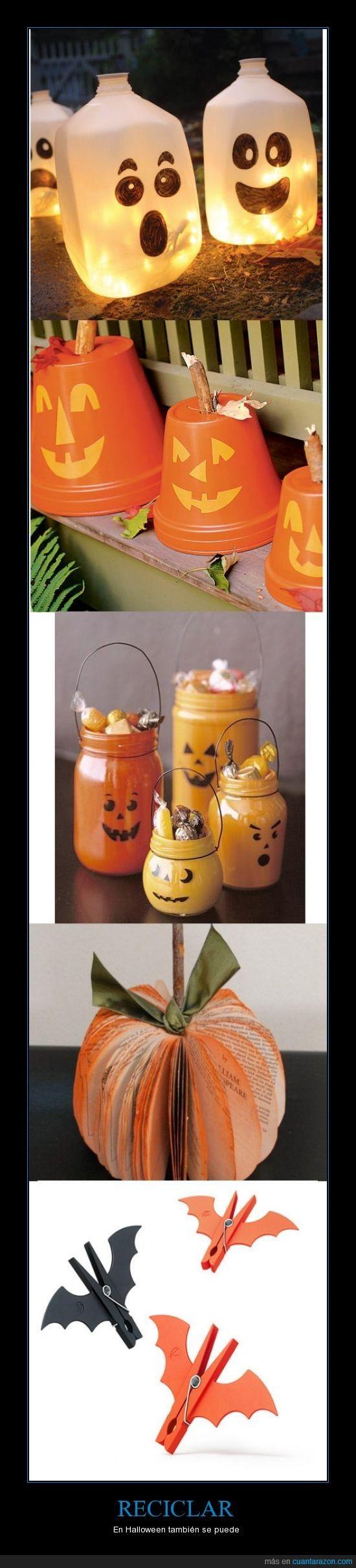 RECICLAR - En Halloween también se puede