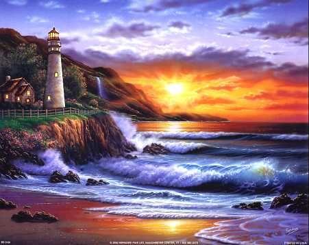 Lighthouse At Sunset Steve Sundram 16x20 Steve Sundram