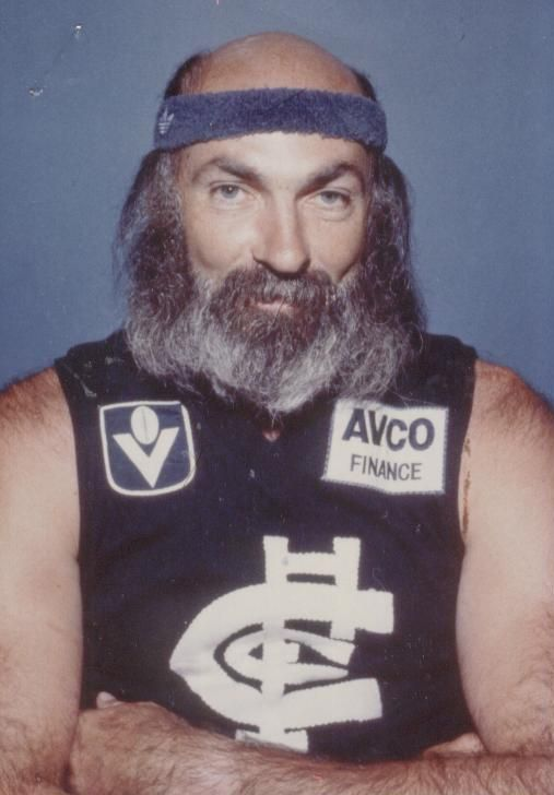 Carlton's most famous hairstyles. Bruce Doull's beard / hair combination.