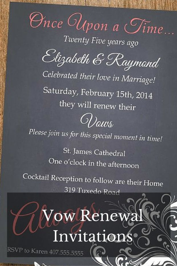 Renewing Wedding Vows Wedding InvitationsVow Renewal InvitationsAnniversary