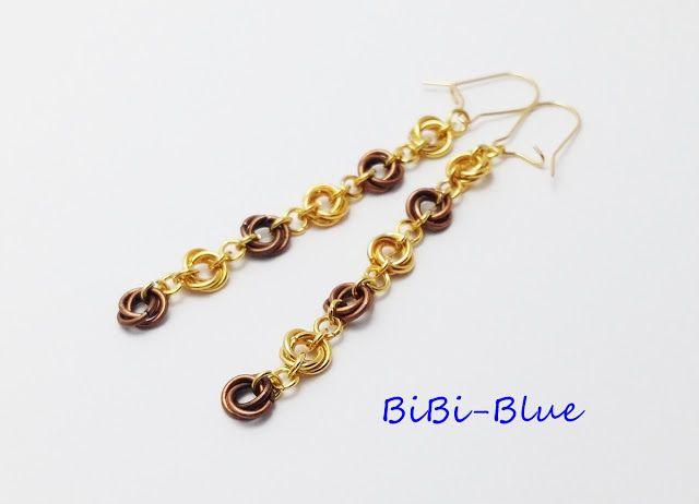 chainmaille earrings, mobius