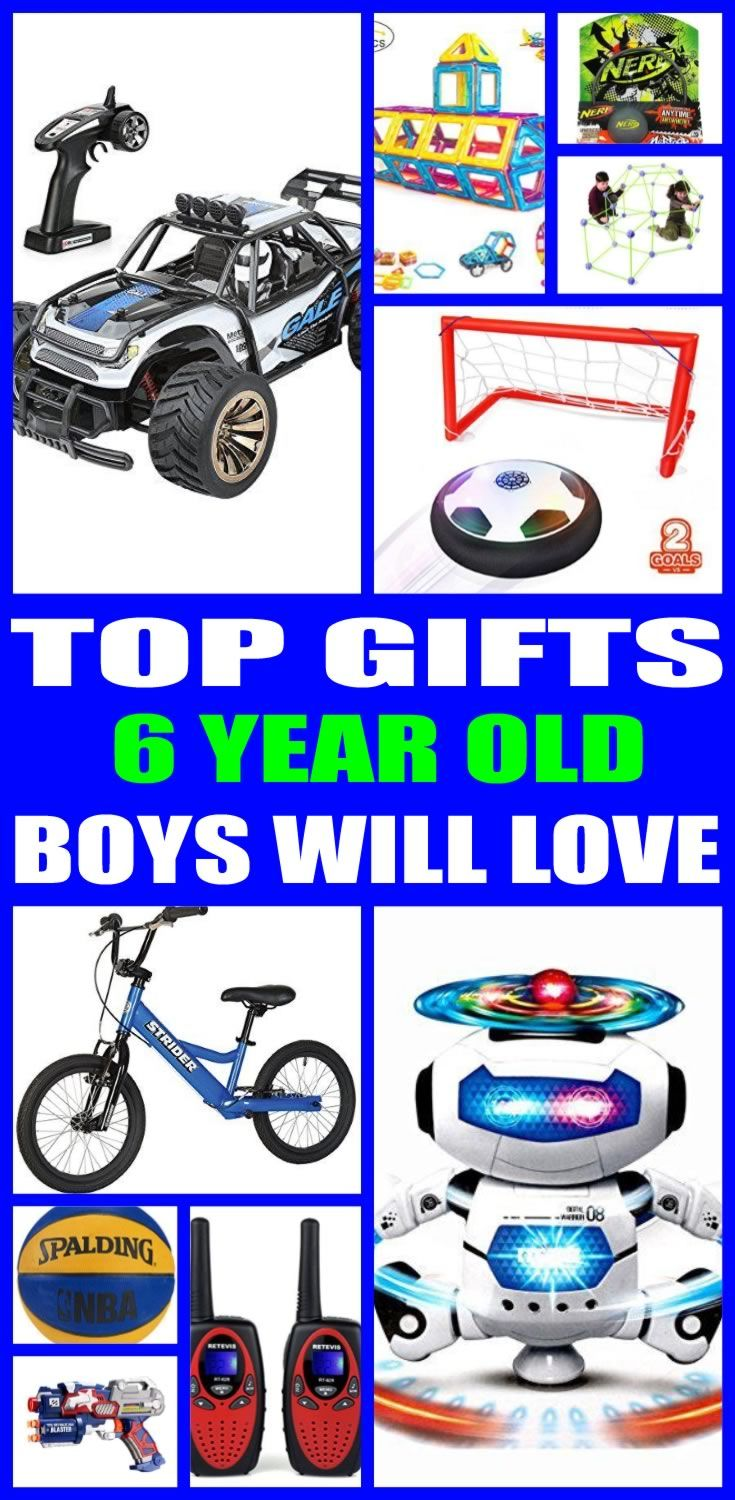 The Ultimate Gift Guide for 6 year old boys! Find the top birthday gifts that a 6 year old boy will love! Shopping for a 6 year old boy can be hard... so here are some of the best birthday gift ideas to help you.