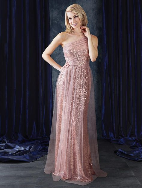 e80ac2ac225 Check out the deal on Alfred Angelo Sapphire 8117L One Shoulder Sequin Bridesmaid  Gown at French Novelty