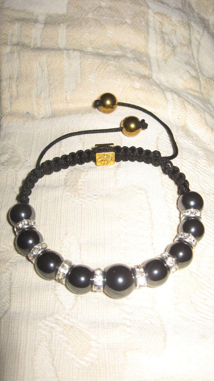 Luxury hematite diamante bracelet with diamond spacers, jewellery,gift,Christmas present,bridesmaid gift,thankyou,steampunk by LovenLightFabrics on Etsy