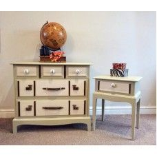 Suitcase Style Vintage Drawers And Side Table