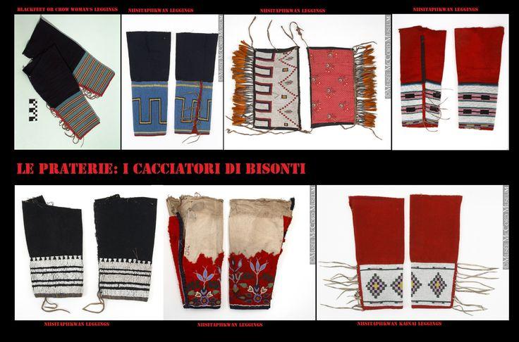 I leggings da donna, Blackfoot confezionati con stoffa commerciale.