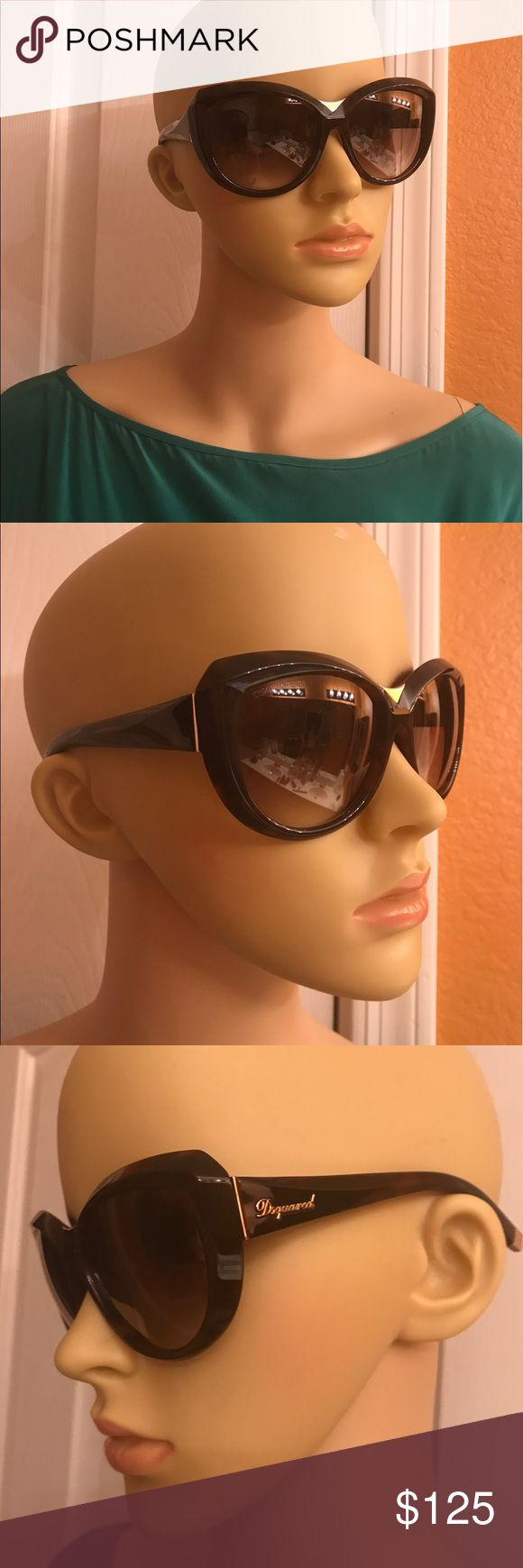 Dsquared Sunglasses Authentic Dsquared Sunglasses, in great condition, used. Missing one of the covers that go behind the ear, as pictured in last picture. No trades! DSQUARED Accessories Sunglasses