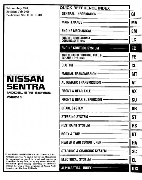 2001 nissan sentra wiring diagram diagram nissan. Black Bedroom Furniture Sets. Home Design Ideas