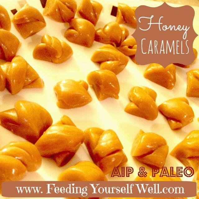Honey caramels with coconut cream. AIP. Just a treat.