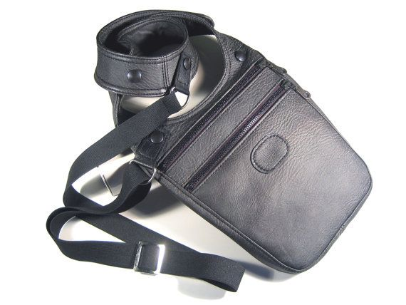 Here comes the casual accessory for all men who have full pockets fed up)  Halter bag anthracite leather imitation in the fashionable worn look. Two zip pockets offer eno... #revolverbag