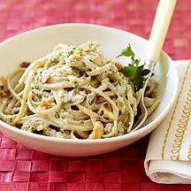 Image of pasta with cream sauce
