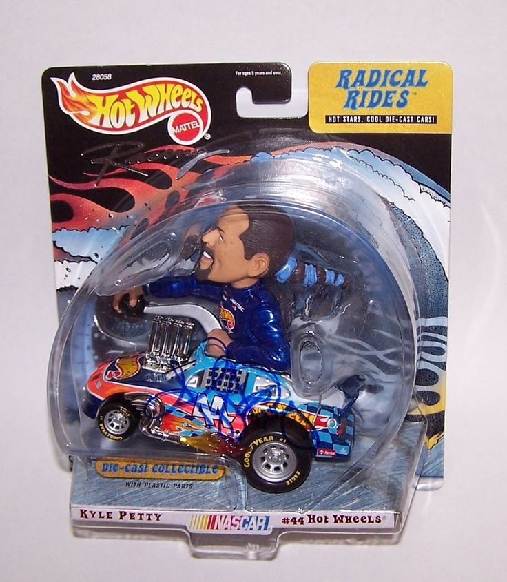 Kyle Petty Signed Nascar # 44 Radical Rides Die Cast Wheels Hot Wheels  #Nascar