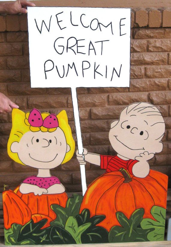 Welcome great pumpkin Linus and sally in by DestinysCustomDesign, $50.00