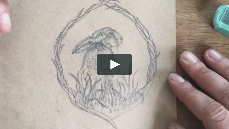 A short time lapse film of me sketching out the design for my Oak Meadow Hare pendant.