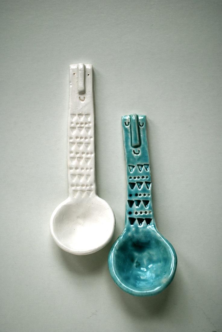Ceramic Spoons so cute!