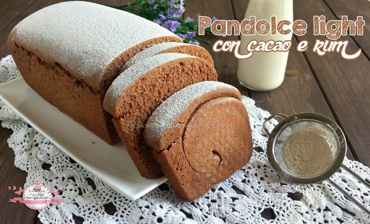Pandolce light con cacao e rum (80 calorie a fetta) | Le ricette super light di Giovi