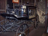 Original restored antique funeral coach   ~  Tombstone Arizona  One of my favorite things to see in the Bird Cage Theater in Tombstone Arizona.