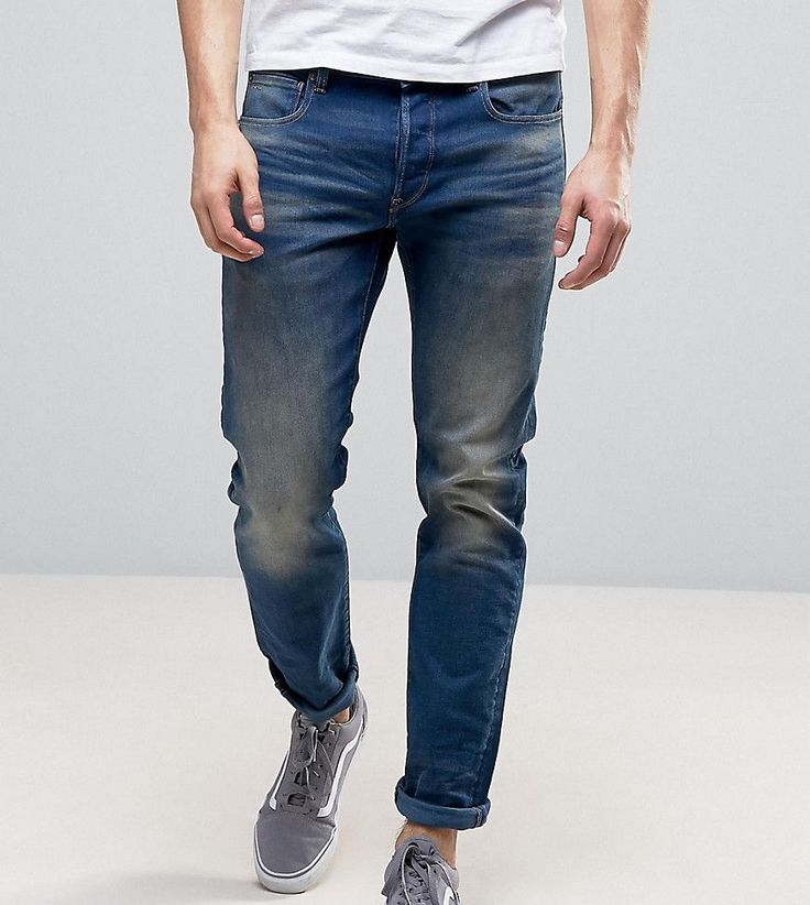 G-Star TALL Jeans 3301 Slim Fit Firro Medium Aged Vintage Wash - Blue