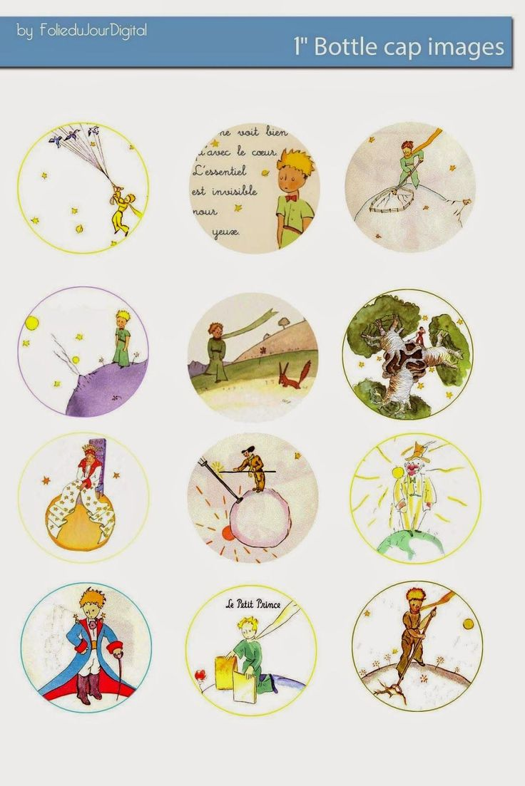 Free Bottle Cap Images: Le Petit Prince The Little Prince free bottle cap images