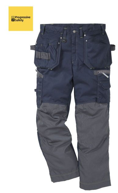 GEN-Y WORKER TROUSER NAVY REG - 60% Cotton, 40% polyester, 350gm green contrast seams, two loose outside pockets, one with extra pocket and one with three smaller pockets and tool loop, two front pockets, two back pockets, thigh pocket with zip, multi-function pocket, to hold folding ruler, mobile phone, ID card, pencils and knife. - www.psf.co.uk