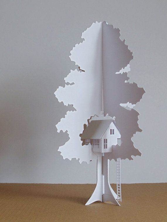 "Folding Tree House by Etsy Seller ""TheFoldedForest"" (UK)."