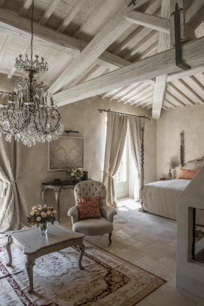 awesome les meubles shabby chic en images duintrieur with deco campagne chic chambre. Black Bedroom Furniture Sets. Home Design Ideas