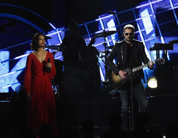 Eric Church Photos Photos - Rhiannon Giddens of Carolina Chocolate Drops joins Eric Church onstage during the 50th annual CMA Awards at the Bridgestone Arena on November 2, 2016 in Nashville, Tennessee. - The 50th Annual CMA Awards - Show