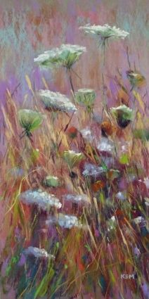 Large Wildflower Painting, painting by artist Karen Margulis