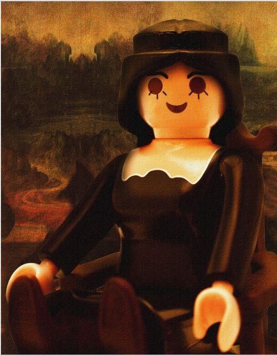 ART HISTORY playmobil ~ MONA LISA - les Playmobils prennent la pose - La Parisienne