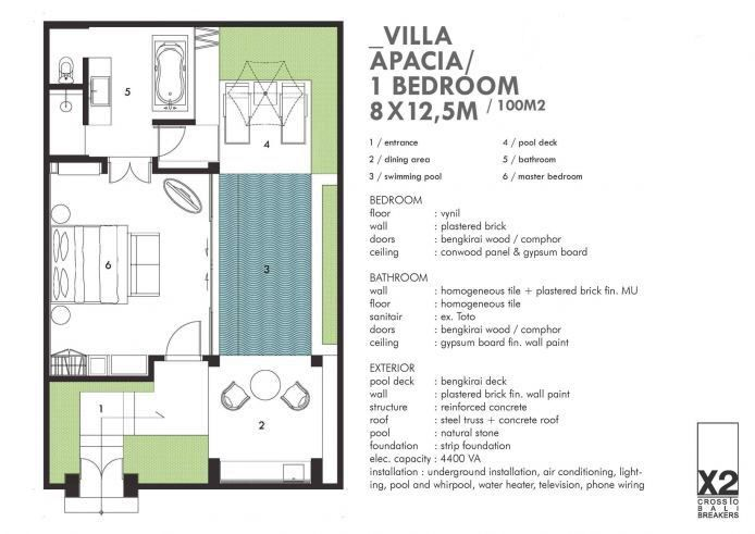 X2 Bali Breakers Resort Floor Plans Swimming Pools Bedroom Flooring
