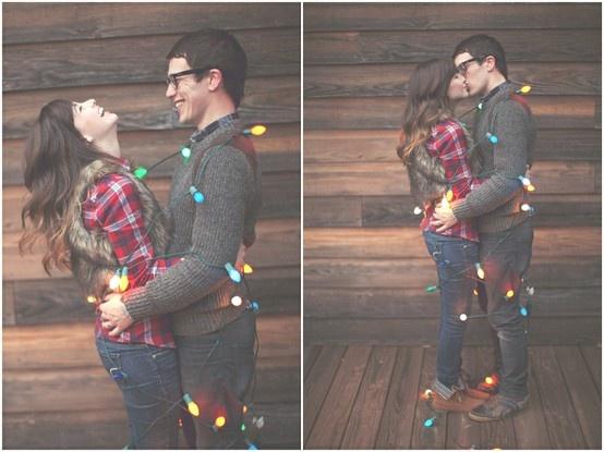 Cute Couple Pic Christmas Card Idea.