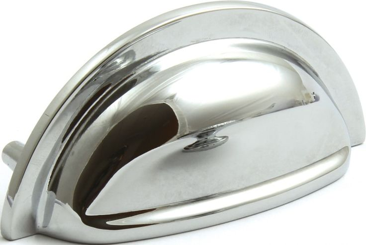 Hafele Henrietta Cup Pull Cupboard Handle Polished Chrome | Handles4Doors