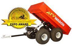 1600 Utility ATV Wagon - Power Dump Cart, dumping ATV Trailer- Power RAM strongest, best, ultimate atv farm trailer, atv ranch trailer