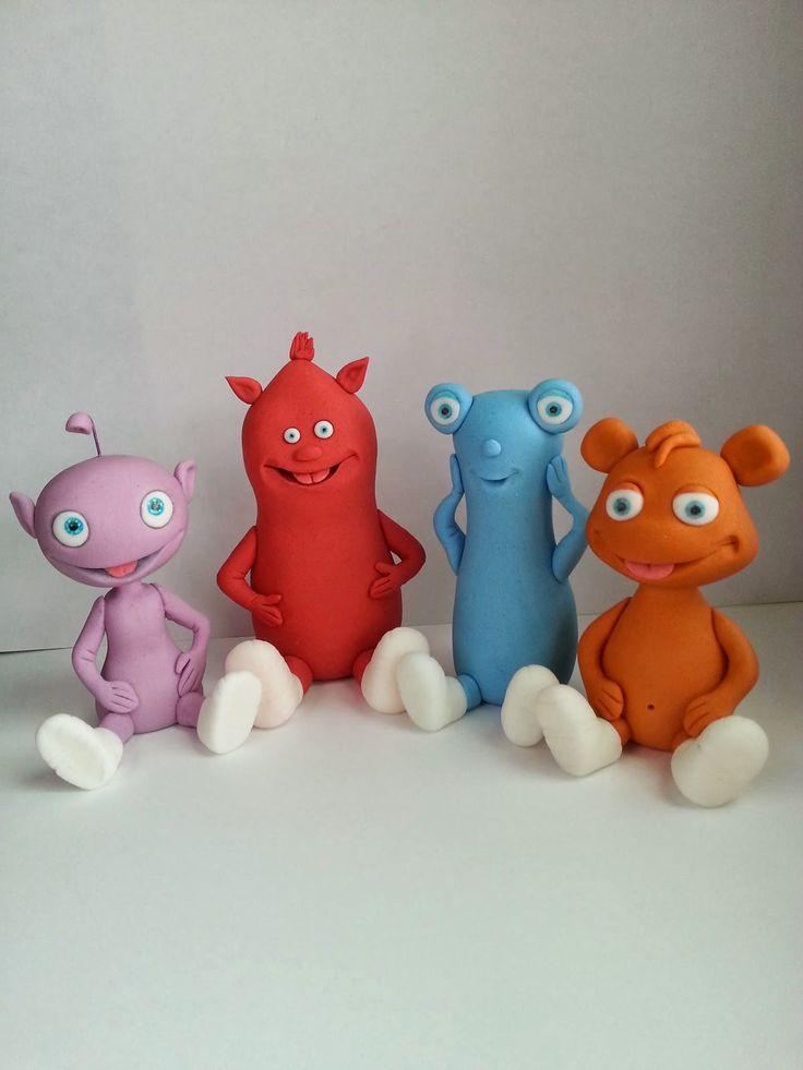 """Studio """"FONDANT DESIGN ANA"""" - Figurice za torte (fondant figures): CUDDLIES - BABY TV"""