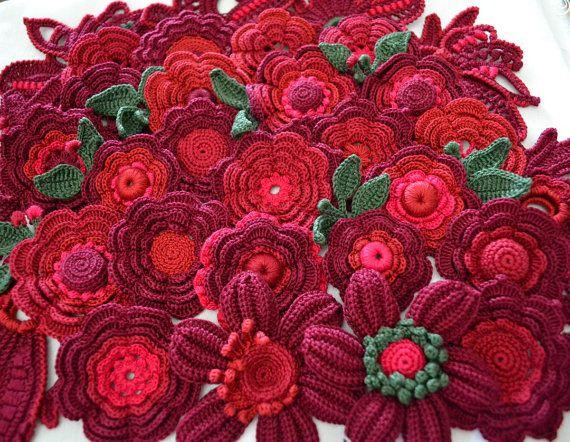 Application 2 4 5-10 cm Irish crochet jewelry от AlisaSonya