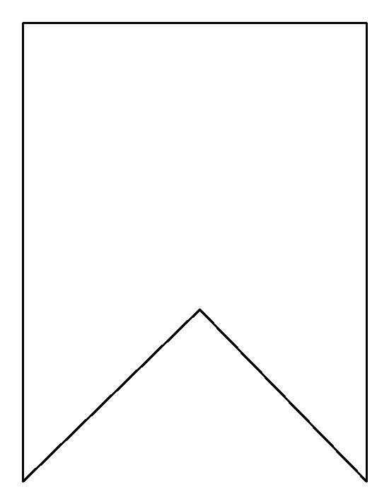 penant template - square bunting pattern use the printable outline for