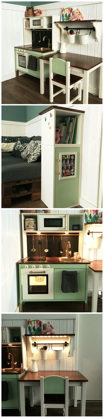 Ikea play kitchen hack                                                       …