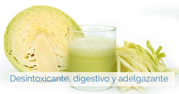 Limpia tu intestino, desintoxica tu hígado, pierde peso y baja el colesterol con jugo de col