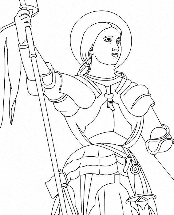 Jeanne d'Arc | history | Coloriage gratuit, Dessin a ...