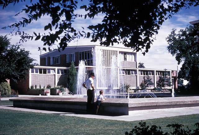 Library Civic Centre Albury 1970. Ultimate 70's design..