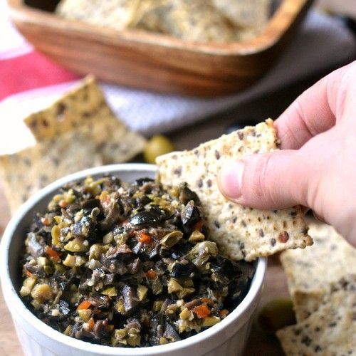 Bring this olive tapenade to your next party for a healthy and delicious dip guests will love!
